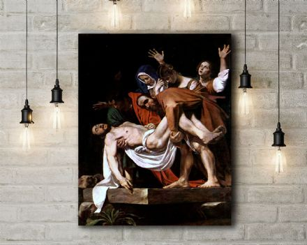 Caravaggio: Entombment. Fine Art Canvas.